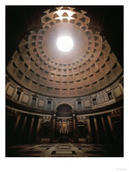 The magnificence of the Pantheon of Rome's dome is expressed beautifully in this photograph.