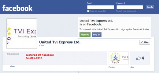 United TVI Express, Facebook page