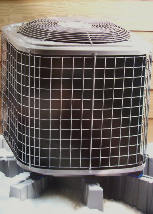 The condenser in a central air system.