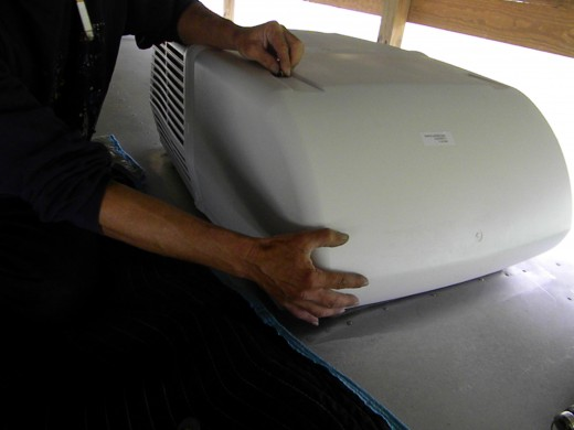 How to Install a Coleman RV Rooftop Air Conditioner | AxleAddict