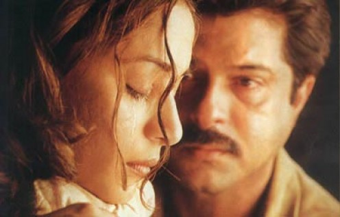 Madhuri Dixit and Anil Kapoor in Pukar.