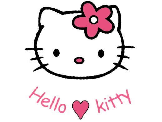 Hello Kitty - a pop culture character in Japan, also a trademark used as a brand for many products