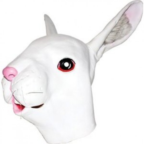 White rabbit mask - the perfect partner for Alice in wonderland
