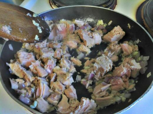 Addition of tuna
