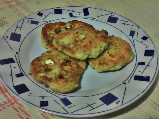 Completed Potato Feta Cakes