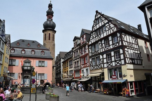 Cochem town square