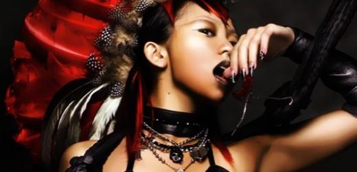 "Kumi Koda promoting her single ""DDD feat. SOULHEAD""."