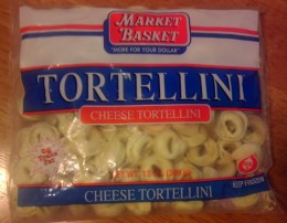 You need only three ingredients: Tortellini...