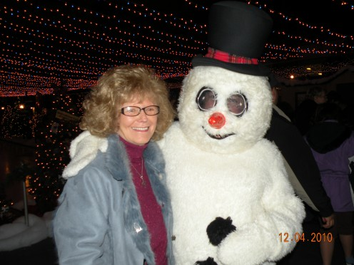 my mom at one of our annual Christmas outings...she was always ready to jump in the car for an adventure :)
