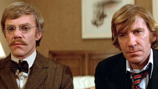 Malcolm McDowell and David Warner in Time After Time (1979)
