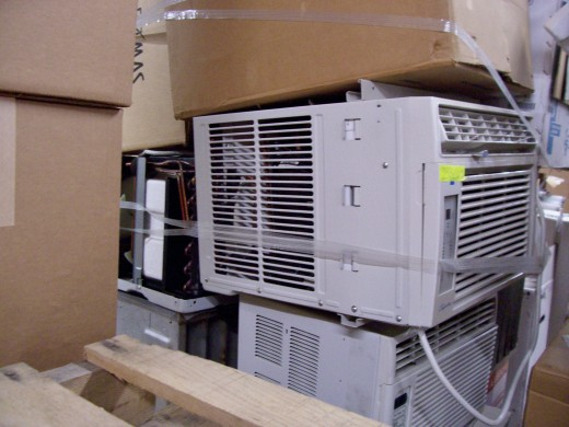 The window air conditioner. Many of which end up here because of improper storage and maintenance.