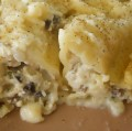White Manicotti with Chicken and Mushrooms Recipe