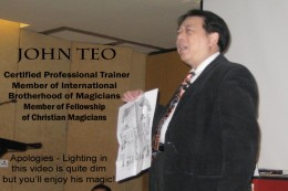 John Teo, Corporate Trainer & Magician - Singapore