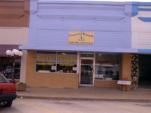 This was my collectibles and furniture store located in the historic downtown of a small Texas town. I closed the shop in 2001.