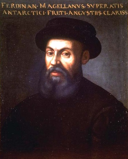 The Portuguese explorer, Ferdinand Magellan, at the service of the Spanish king in search of a westward route to the Spice Islands.