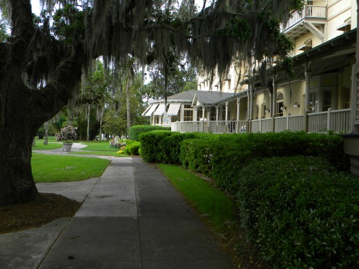 Cool and peaceful under moss laden live oaks..