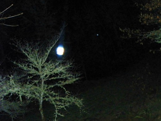 Bright light of the Holly Spirit captured Easter 2012