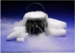 Dry ice makes great Halloween special effects, but it can be dangerous if not handled correctly. Knowing the dangers and how to prevent them will keep the fun dry ice tricks fun.