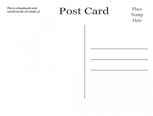 Postcard backs free to download.
