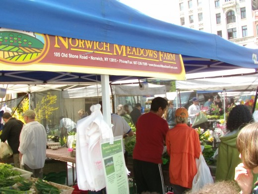 Fresh produce at New York City at a Farmers Market - Herald Square 14th Street