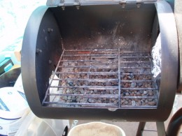 the fire end of the smoker