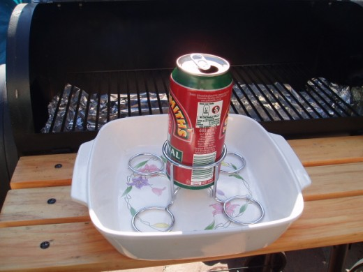 Beer can in place