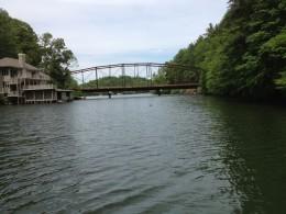 Iron Bridge entering Lake Summit from Green River Photo by Wendy Gilbert.