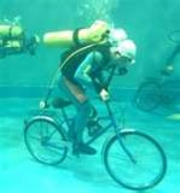 Crossing the ocean is as easy as riding a bike.