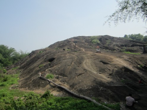The Gigantic Vaniyambalam Rock. You Can see People On there if you watch close