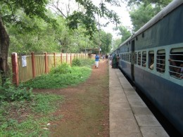 Nilambur Train at Thodiyapuam Station