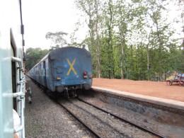Another Train Passes Nilambur Train at Angadippuram station (Shunting of Trains)