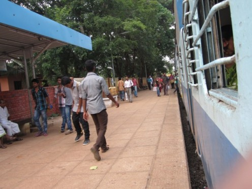 Nilambur Train In Pattikkad Railway station