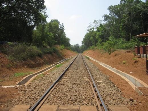 Journey towards the destiny. Rail line towards Shornur.