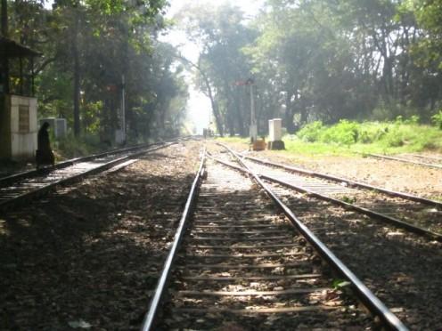 Rail line at Nilambur Station