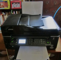My Epson Workforce in my home office