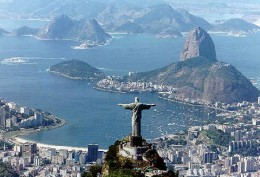 The famous Sugarloaf Mountain in Rio de Janeiro, in Brazil, was named due to its resemblance to a sugarloaf