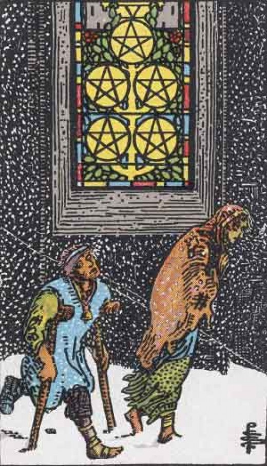 Five of Pentacles (copyright-free)