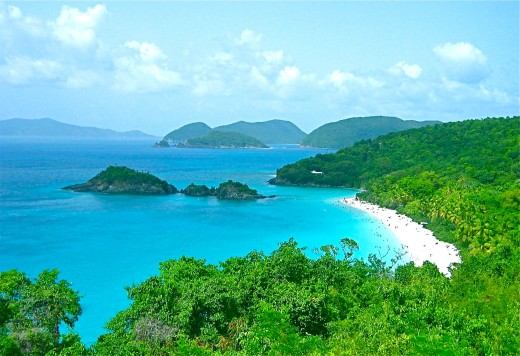 Trunk Bay, St. John U.S. Virgin Islands is one of the most beautiful beaches in the world.