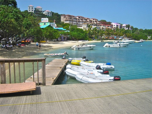 View from the ferry dock at Cruz Bay, St. John Island