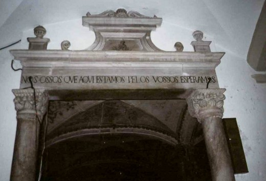 Entrance of the Chapel of Bones