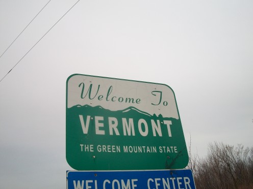 Signage close to the Vermont state line, at Alburgh