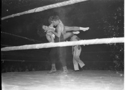 Female wrestling has been around since the early 50's. Before color cameras.