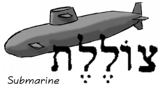 What would you call a submarine, using only words in an ancient language? Metal-fish? Hide-in-sea?