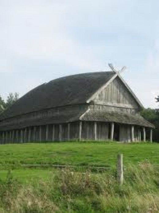 Danish hall, much like those at Roskilde would have been at the time of King Harald Sveinnson
