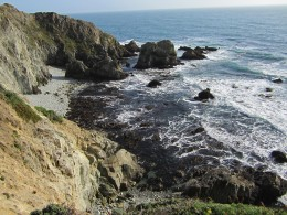 Pacific Ocean (west) side of the point