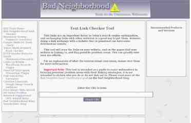 Bad Neighborhood Link Tool Checker Public Domain