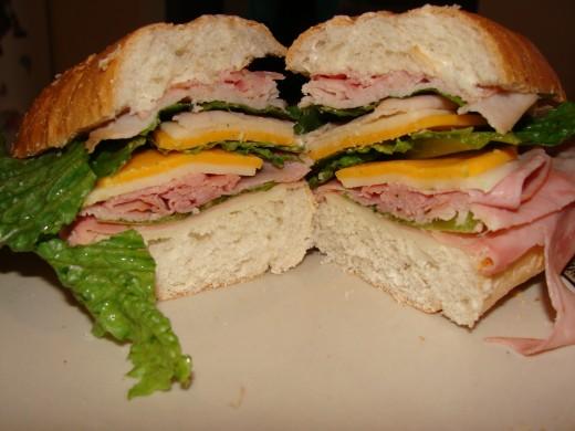 Grace's monster sandwich!