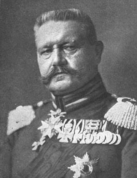 Paul von Hindenburg (10/2/1847 - 8/2/1934)