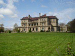 Back view of The Breakers from the Cliffwalk, Newport, R.I.