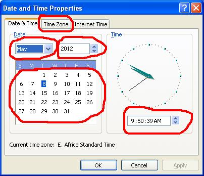 Date, time, and time zone settings